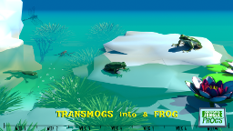 Markerboard Jungle Frogs screenshot - Transmogs into a frog